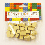 Constructibles® x25 Tan 1x2 Bricks 3004 - LEGO® Bulk Parts