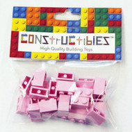 Constructibles® x25 Bright Pink 1x2 Bricks 3004 - LEGO® Bulk Parts