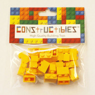 Constructibles® x25 Bright LIght Orange 1x2 Bricks 3004 - LEGO® Bulk Parts