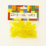 Constructibles® x50 Transparent Yellow 1x2 Plates 3023 - LEGO® Bulk Parts
