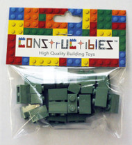 Constructibles® x25 Sand Green 1x2 Bricks 3004 - LEGO® Bulk Parts