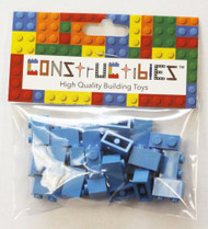 Constructibles® x25 Dark Azure 1x2 Bricks 3004 - LEGO® Bulk Parts