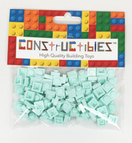 Constructibles® x100 Light Aqua 1x1 Plates 3024 - LEGO® Bulk Parts
