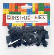 Constructibles® x100 Dark Blue 1x1 Plates 3024 - LEGO® Bulk Parts