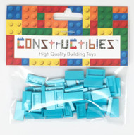 Constructibles® x50 Medium Azure 1x2 Tiles 3069 - LEGO® Bulk Parts