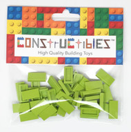 Constructibles® x50 Lime 1x2 Tiles 3069 - LEGO® Bulk Parts