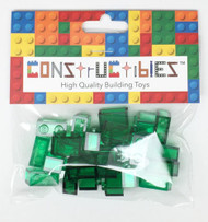 Constructibles® x25 Transparent Green 1x2 Bricks 3004 3065 - LEGO® Bulk