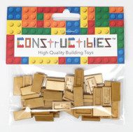 Constructibles® x50 Pearl Gold 1x2 Tiles 3069 - LEGO® Bulk Parts