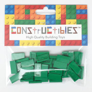 Constructibles® x50 Green 1x2 Tiles 3069 - LEGO® Bulk Parts