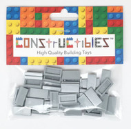 Constructibles® x50 Light Gray 1x2 Tiles 3069 - LEGO® Bulk Parts