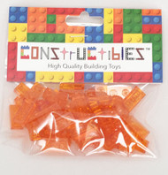 Constructibles® x50 Transparent Orange 1x2 Plates 3023 - LEGO® Bulk Part