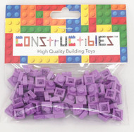 Constructibles® x100 Medium Lavender 1x1 Plates 3024 - LEGO® Bulk Parts