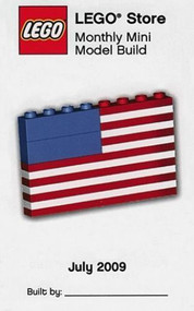 Constructibles® US Flag Mini Model