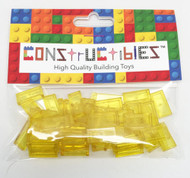 Constructibles® x50 Transparent Yellow 1x2 Tiles 3069 - LEGO® Bulk Parts