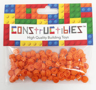 Constructibles® x100 Orange 1x1 Round Plates 3024 - LEGO® Bulk Parts