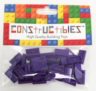 Constructibles® x50 Dark Purple 1x2 Tiles 3069 - LEGO® Bulk Parts