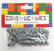 Constructibles® x100 Light Bluish Gray 1x1 Round Plates 3024 - LEGO® Bulk Parts