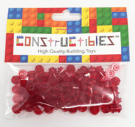 Constructibles® x100 Transparent Red 1x1 Round Plates 3024 - LEGO® Bulk Parts