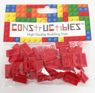 Constructibles® x50 Red 1x2 Plates 3023 - LEGO® Bulk Parts