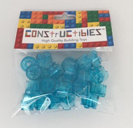 Constructibles® x25 LEGO® 2x2 Brick Round Trans Light Blue 3941 NEW