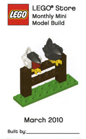 Lego Birds on a Fence Parts & Instructions March 2010 Monthly Model Mini Build