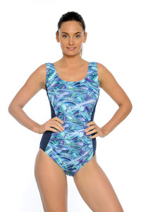 Hazy Daze Mastectomy, Chlorine Resistant One Piece Swimsuit.