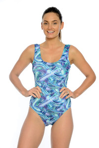 Hazy Daze Chlorine Resistant One Piece Swimsuit.