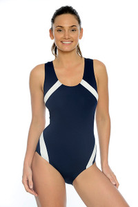 Action Back Chlorine Resistant One Piece Swimsuit.