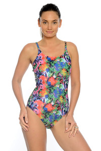 Tropical Garden Mastectomy One Piece.