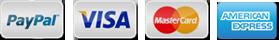 PayPal, Visa, Mastercard, AMEX