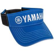Yamaha Visor Blue & Black w/ White Yamaha Logo