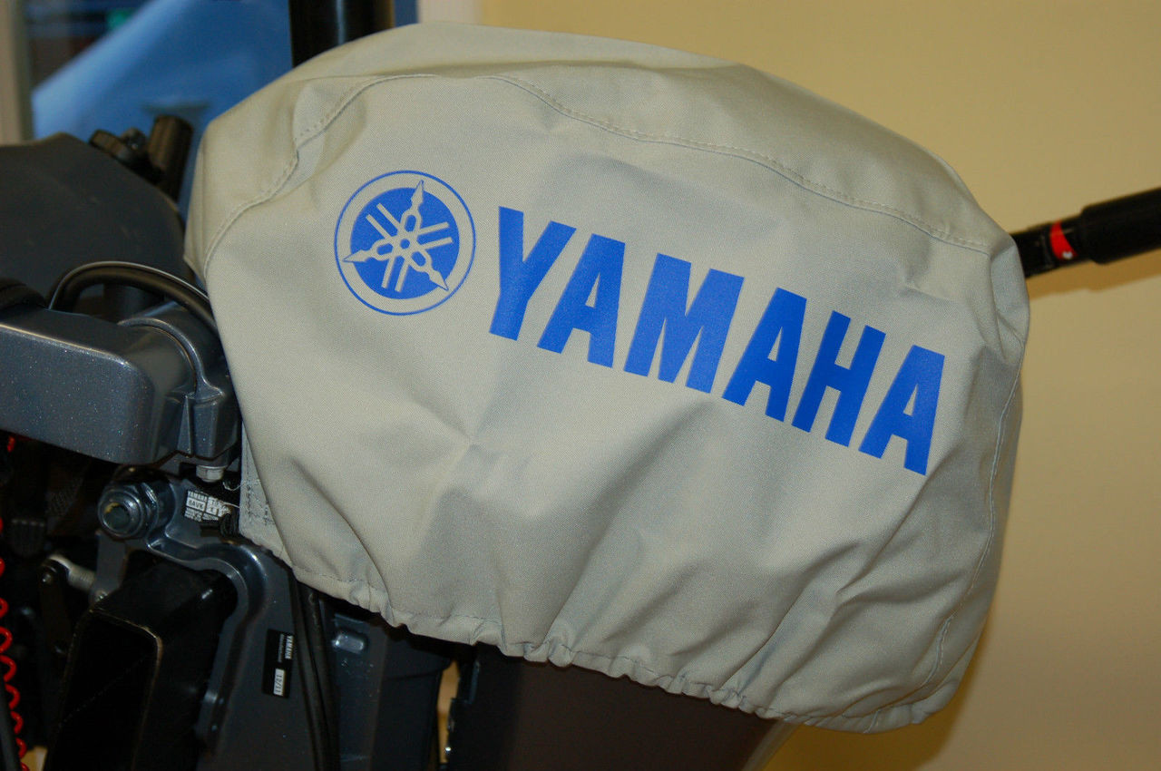 Yamaha basic outboard motor cover 6 25 f4 f15 mar for Yamaha boat motor covers