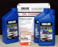 Yamalube 10W-40 PWC Watercraft Oil Change Kit LUB-WTRCG-KT-00