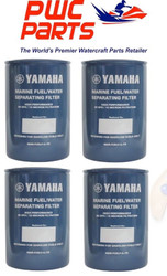 YAMAHA OEM Outboard 4-PACK Fuel/Water Separating Filter 10-Micrn MAR-FUELF-IL-TR