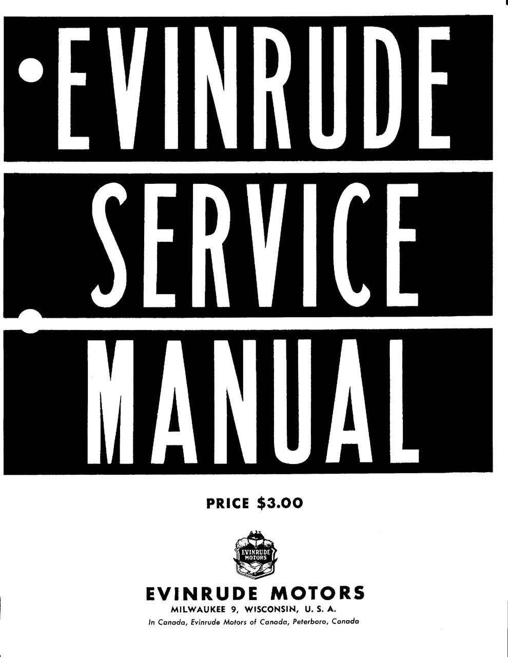 free evinrude service manual pdf
