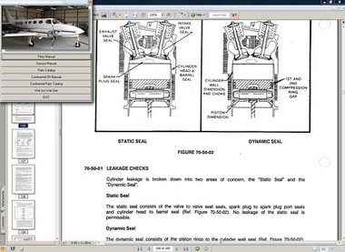 Service repair manual Aircraft Service Maintenance Manuals Cessna 340 ...