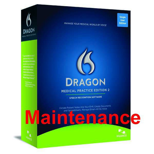 Manufacturer's Maintenance & Support for Dragon Medical Practice Edition 2