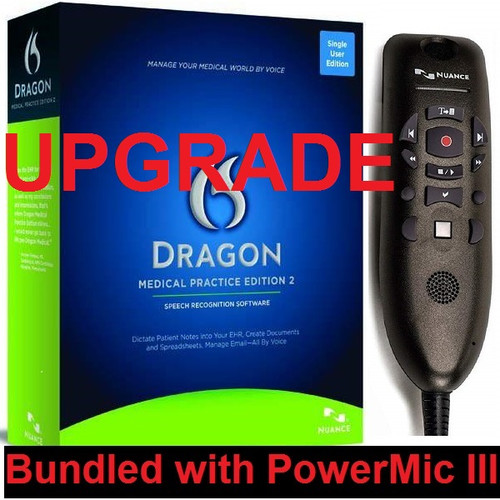 Nuance Dragon Medical Practice Edition 2 Upgrade with PowerMic III