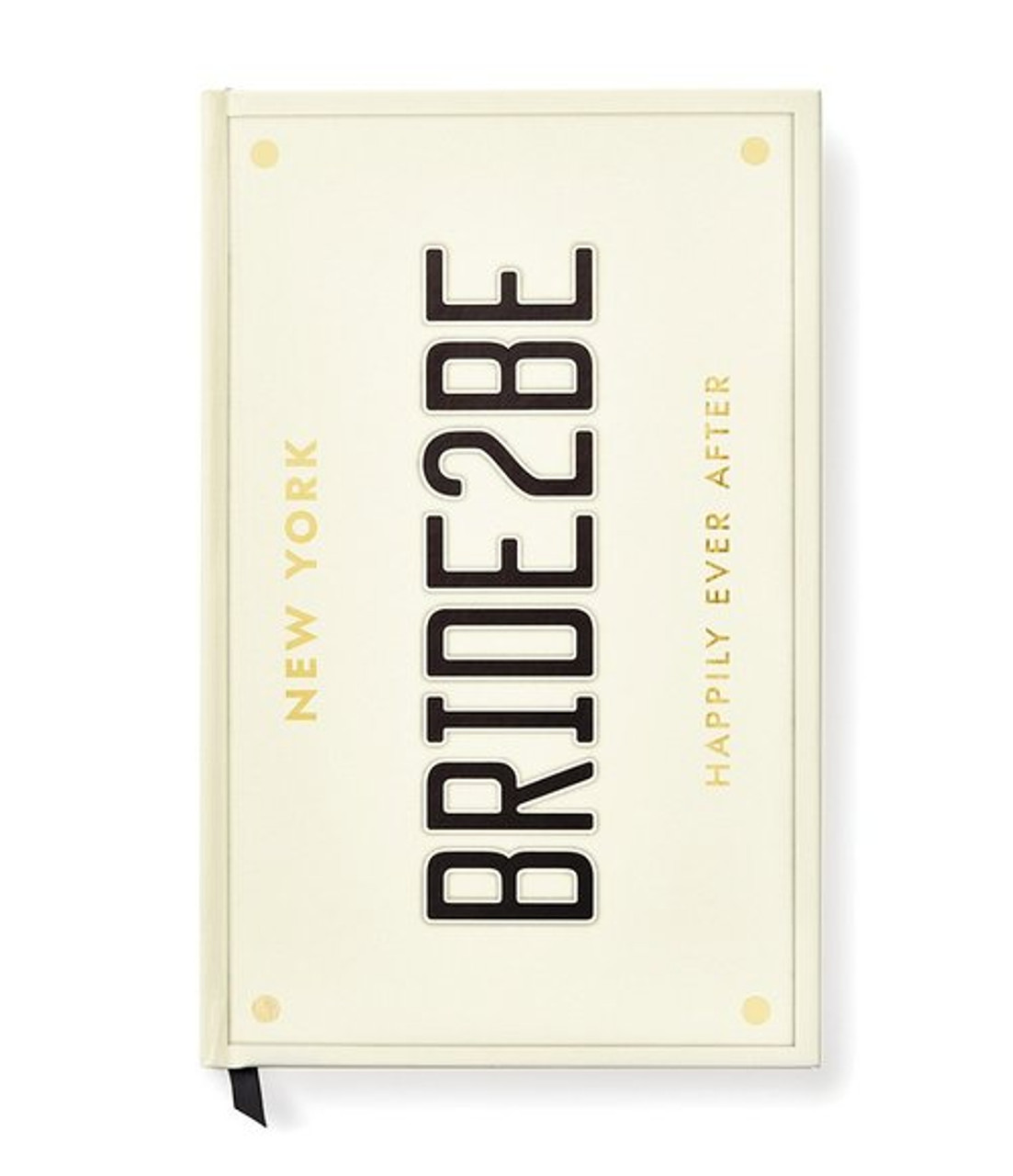 kate spade bride 2 be license plate wedding notebook