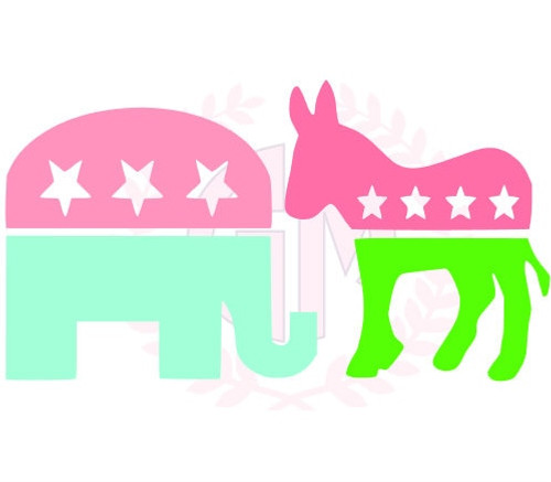 "4"" Political Party Decal"
