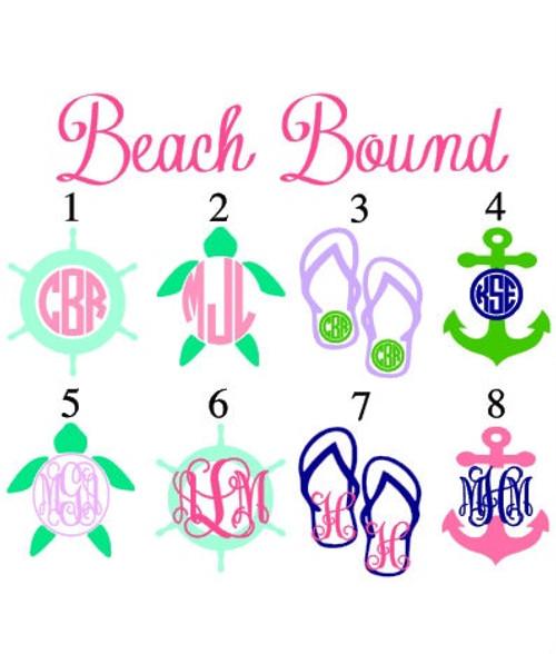 """3"""" Beach Bound Decal"""