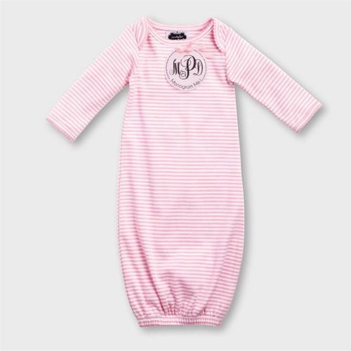 Monogrammed Pink Sleep Gown | Mud Pie