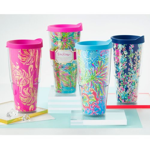 Lilly Pulitzer Insulated Tumbler ~ Lover's Coral