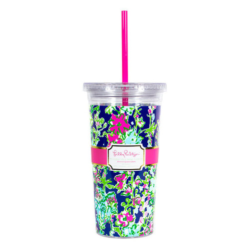 Lilly Pulitzer Reusable Cold Drink Tumbler ~ Southern Charm