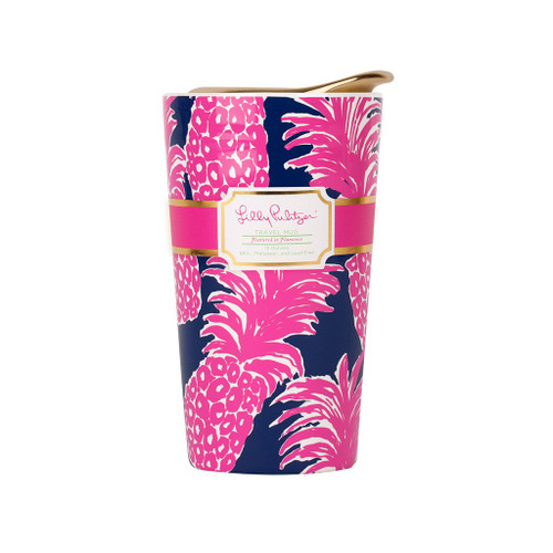 Lilly Pulitzer Travel Mug ~ Flamenco