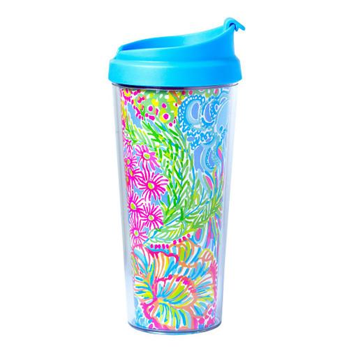 Lilly Pulitzer Thermal Mug ~ Lover's Coral