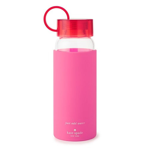 Kate Spade Water Bottle ~ Pink Colorblock