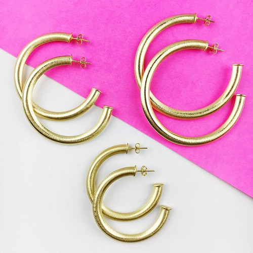 Moon & Lola Large Serena Hoops
