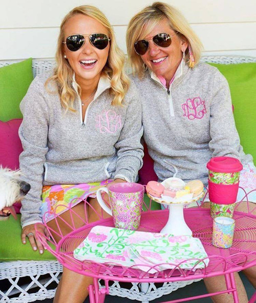 Monogrammed Heathered Oatmeal Pullover