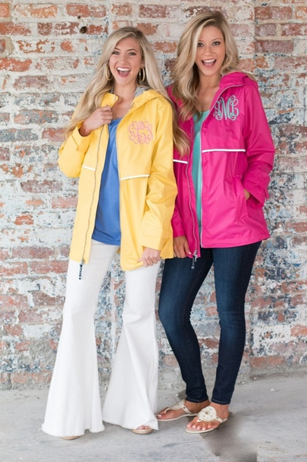 Monogrammed Buttercup New Englander Rain Jacket